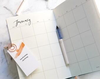 Handmade LIMITED EDITION 2018 Jurnal / Annual Diary / Agenda