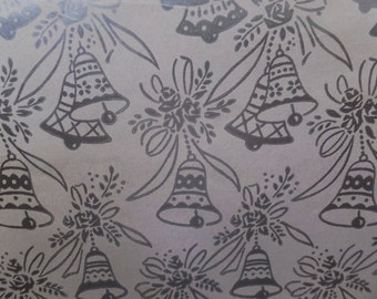 Vintage Silver Bells Wedding Bridal Shower Anniversary Gift Wrap Wrapping Paper