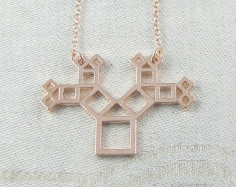 1, Pythagoras Theorem, Mathematics, Math Charm, Geometry, Geometry Charm, Pythagoras Pendant, Geometric, Geometry Pendant, NEC035-RG