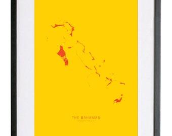 """The Bahamas 18"""" x 24"""" FRAMED Print"""