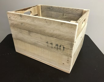 Recycled pallet crate
