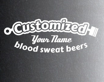 Gepersonaliseerde auto sticker. Customized met jouw naam in het midden.
