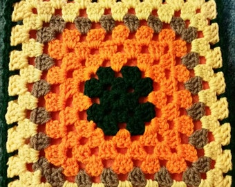 Autumn crochet hot pad