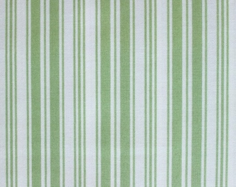 Ava Rose Collection Green Ticking Stripes Fabric by Tanya Whelan TW03