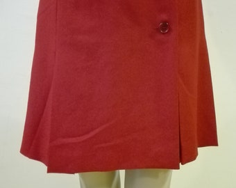 70s RED Skirt Made in ITALY size 40