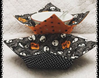 Nightmare Before Christmas - Soup - Bowl - Cozy - Microwavable - Pot Holder - Novelty - Gift - Soup - Chili - Jack Skellington - Microwave