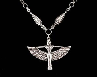 ISIS, egyptian goddess, egyptian necklace, egyptian jewelry, ankh, eye of horus, goth, gothic, magick,  darkwave, nefertiti, nile, pyramid