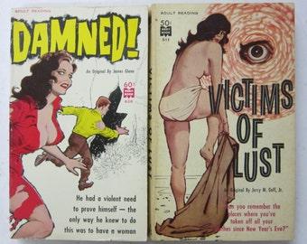 4 Saucy Brunette PULP Fiction Books 1960s Excellent GGA