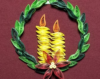 Quilled wreath ornament