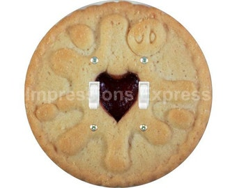 Jam Filled Cookie Double Toggle Switch Plate Cover