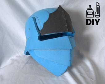DIY Fortnite Battle Royale - Blue Squire helmet template for EVA foam