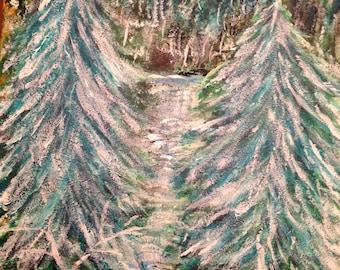 A Michigan  Winter Painting