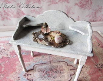 Miniature Lady's vanity tray OOAK (1 inch dollhouse scale).