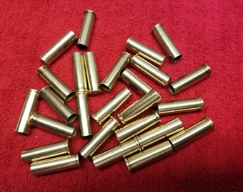 Empty Brass 357 Magnum Bullet Shell (25) Casings ... Brass Colored