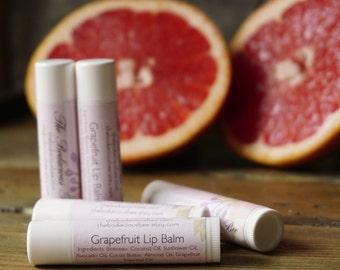 Grapefruit Lip Balm   Natural Lip Balm, Healing Lip Balm, Beeswax Lip Balm, Citrus Lip Balm, Essential Oil Lip Balm, Chapstick