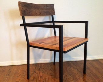 Custom Indoor/ Outdoor Rustic Modern/ Contemporary Reclaimed Wood Dining  Chairs