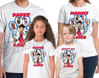 Paw Patrol Birthday Shirt Add Name & Age Custom  Paw Patrol Birthday Party TShirt 07