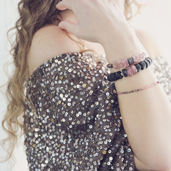 Raw Crystal Bracelet - Chunky Gemstone Bracelet