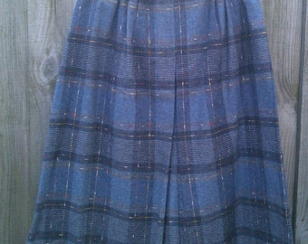 Size 12 Vintage 1980s Wool Skirt C&A