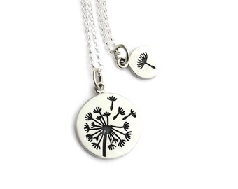 Mommy and Me Dandelion and Dandelion Seed Wish Necklace Set | From Mother to Daughter Mother Daughter Gift | Mommy & Me | Dandelion Necklace