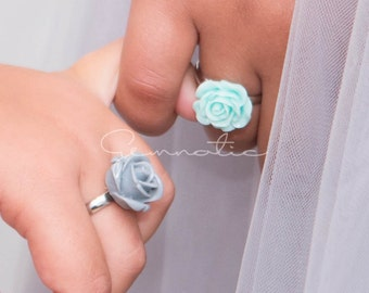 Flower girl gift, flower girl ring, flower girl jewelry , girls flower ring, girls ring