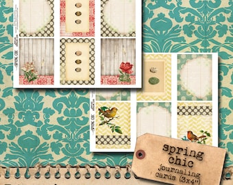 Spring Chic - Printable Journaling Cards
