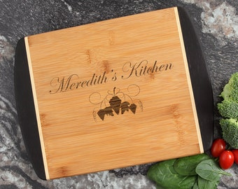 Personalized Cutting Board, Custom Engraved Cutting Board, Bamboo Cutting Boards, Personalized Kitchen Gift, Host or Hostess Gift-12 x 9 D40