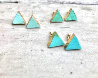 Stud Earrings,Turquoise Studs Earrings,Turquoise Studs,Turquoise Earrings Gold,Turquoise Stud Earrings,Turquoise,Turquoise Jewelry, Studs