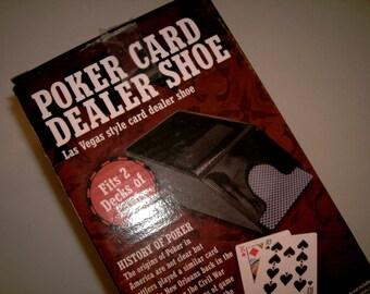Poker Card Dealer Shoe Las Vegas style NEW Original Box Holds 2 decks of cards - not included 2 Deck Dealer Poker Player Dealer Poker Shoe