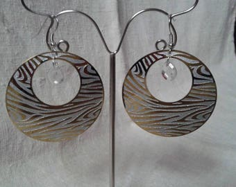 hoop earrings Zebra white