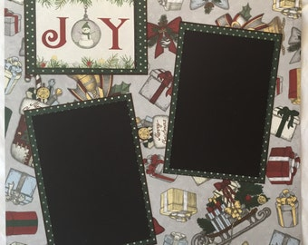 12 x 12 Christmas Scrapbook Page, 2 Page Scrapbook Layout by Island Lilly Designs