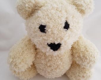 Jasper the Hand Knit Teddy Bear, soft Bear, Baby Shower Gift, Stuffed Animal, stuffed toy, nursery decor, cute bear, plush bear, bear softie
