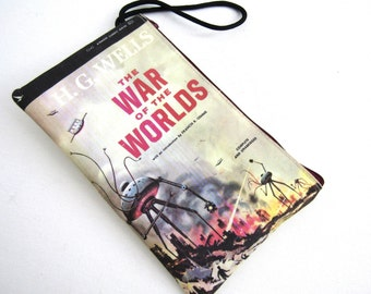 H.G. Wells The War of the Worlds Vintage Book Wristlet