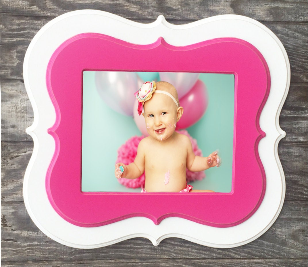 8x12 picture frame,whimsical frame,picture frames,curvy picture ...