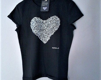 T-shirt heart letters-heart. Romantic gift for her