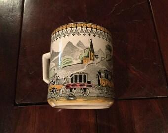 Sale...B&B RAILROAD PV Pottery Mug Early 1900s Railway Vintage Mug / Railroad Train Memorabilia / Railroad Mug England 5.5 x 4.5 Rare Lg Sz