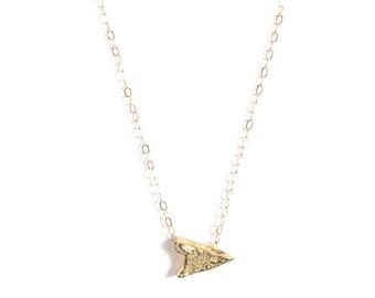 14k Arrowhead Choker | 14k Gold or Sterling Silver Choker Necklace