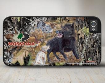 Camo Phone Case Mossy Oak Break Up Wild Boar iPhone Case, Hog Hunting Camo iPhone Case, iPhone Case Protective Phone Case-50-8026