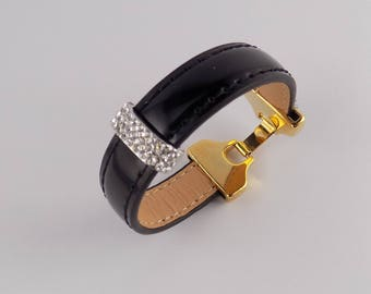 Bracelet patent leather - BELLA - brand COCOLLANA-