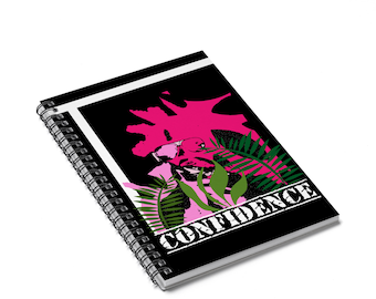 I Am Confidence Spiral Notebook