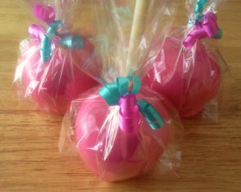 Colorful Candy Apples, Hard Candy Apples, Custom Flavors - A Half Dozen