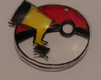 Pokeball Shrinky Dink with Pokemon Tail of Choice
