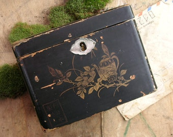 Vintage box, use in mixed media art, shadow boxes, keep your treasures and secrets...