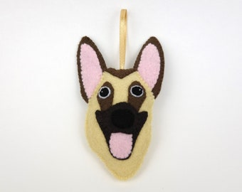 Felt Dog Ornament - German Shepherd