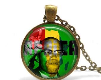 Malcolm X Pendant / NOI / Malcolm X / Muslim Necklace / Islam / el-Hajj Malik el-Shabazz