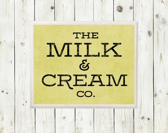 Milk and Cream Co | Milk and Cream | Farmhouse Decor | Farmhouse Sign | Milk and Co Signs | Farmhouse Wall Decor | Rustic Home Decor