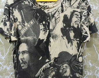 Vintage 80s Bob Marley over print mosquitohead T-shirt