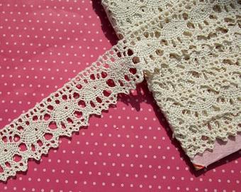 Antique Lace Vintage Lace Trim Cluny Lace Cotton Lace Off White