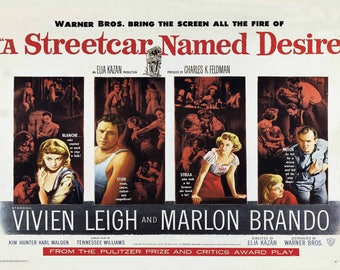 Poster of the 1951 movie A Streetcar Named Desire