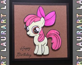 Apple Bloom birthday card